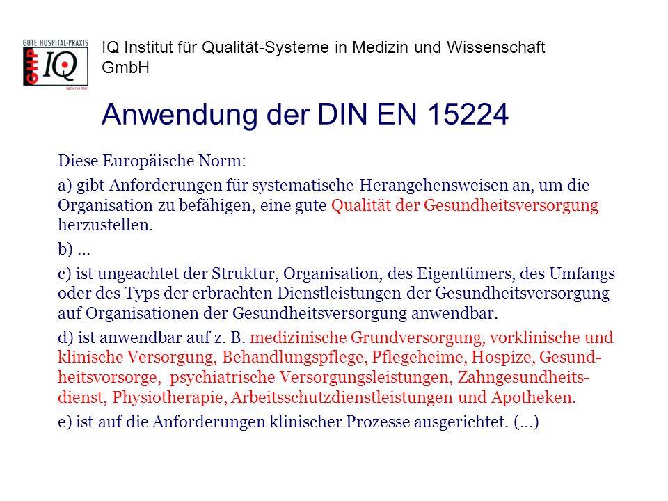 Anwendung der DIN EN 15224