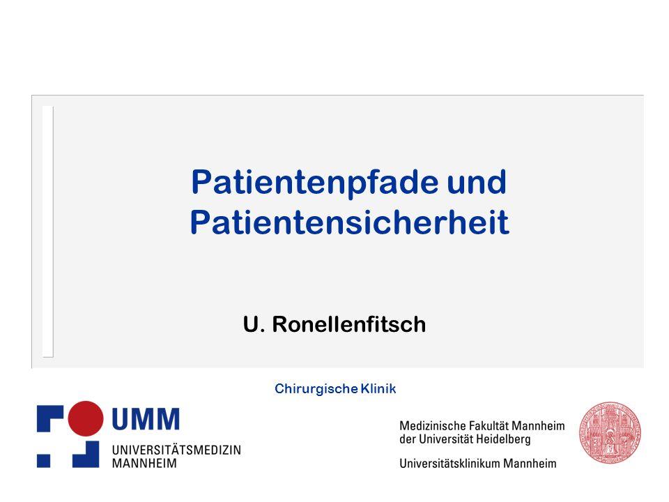 Patientenpfade und Patientensicherheit