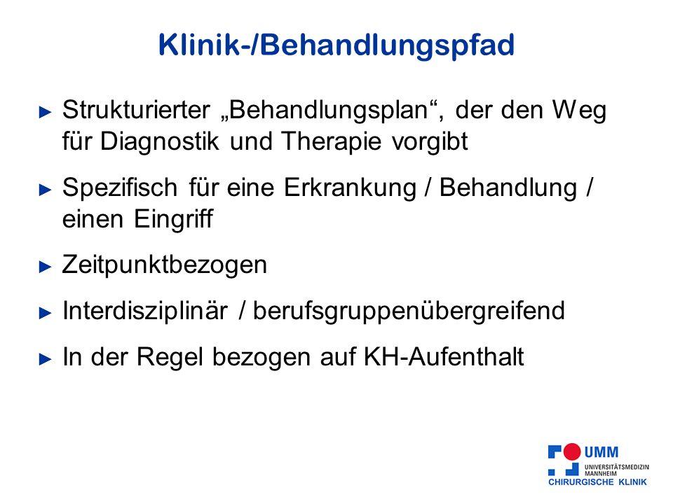 Klinik-/Behandlungspfad