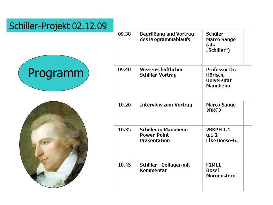 Programm Schiller-Projekt 02.12.09 09.38