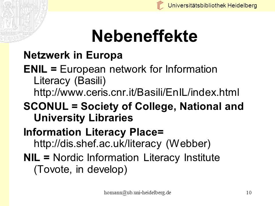 Nebeneffekte Netzwerk in Europa