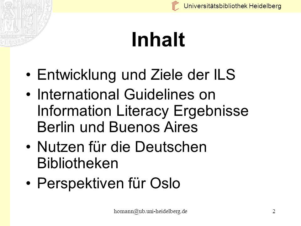 Inhalt Entwicklung und Ziele der ILS