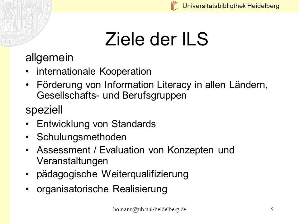 Ziele der ILS allgemein speziell internationale Kooperation