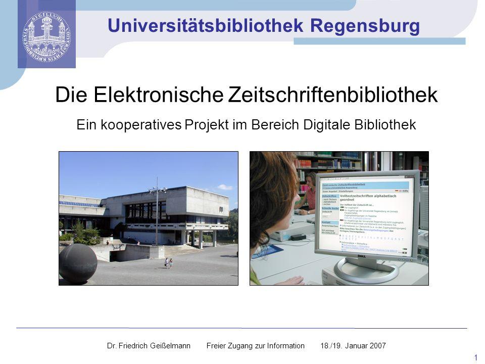 Die Elektronische Zeitschriftenbibliothek