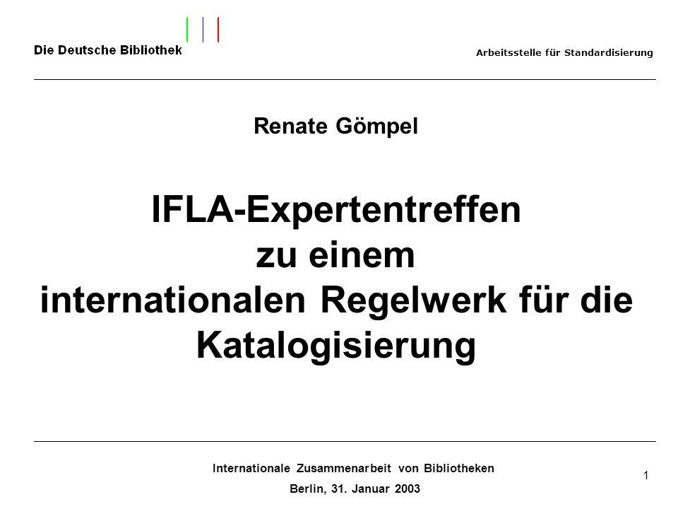 IFLA-Expertentreffen zu einem