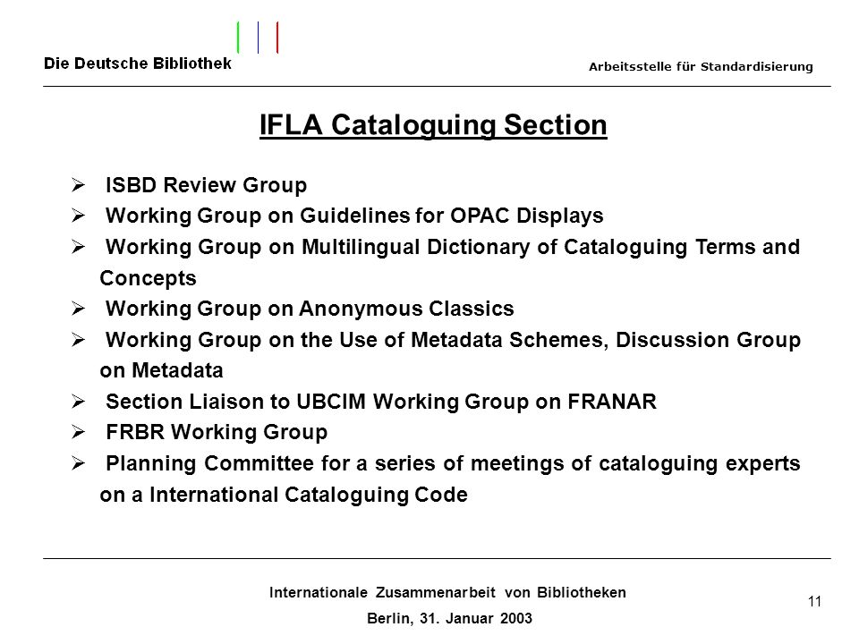 IFLA Cataloguing Section