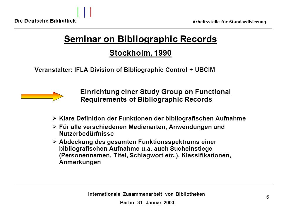 Seminar on Bibliographic Records