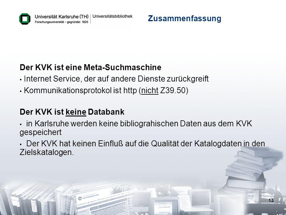 Der KVK ist eine Meta-Suchmaschine