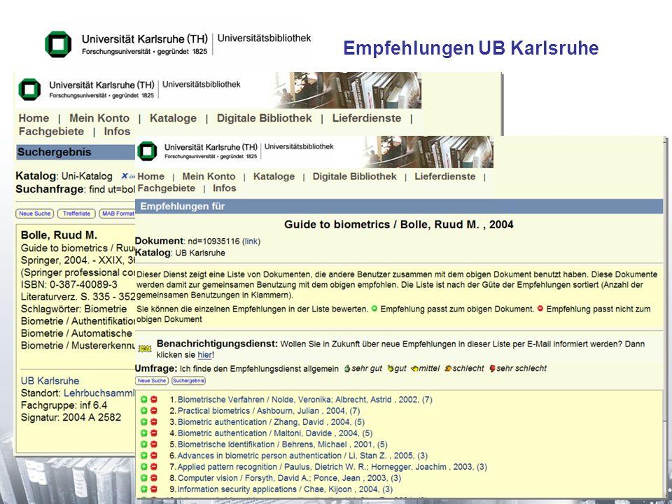 Empfehlungen UB Karlsruhe