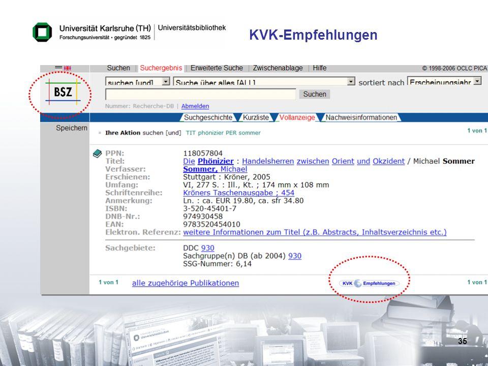 KVK-Empfehlungen