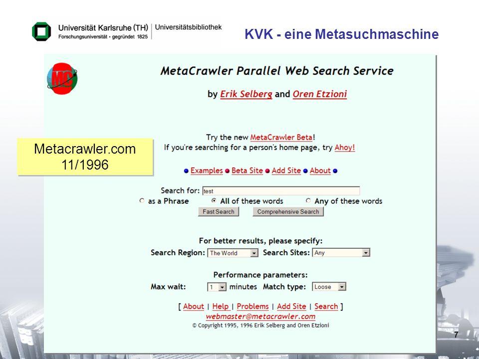 KVK - eine Metasuchmaschine