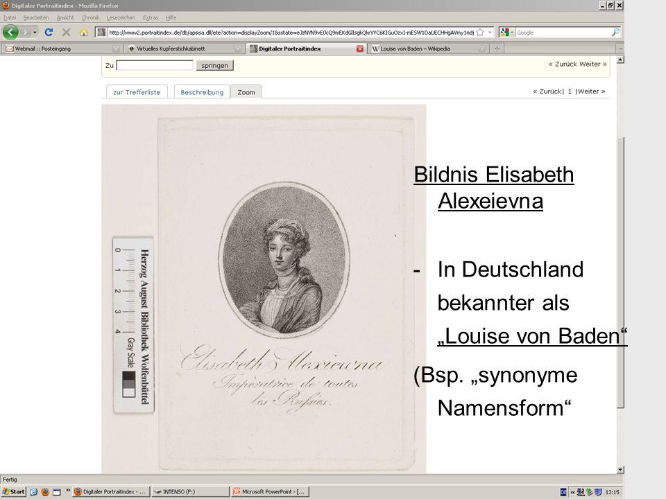 Bildnis Elisabeth Alexeievna