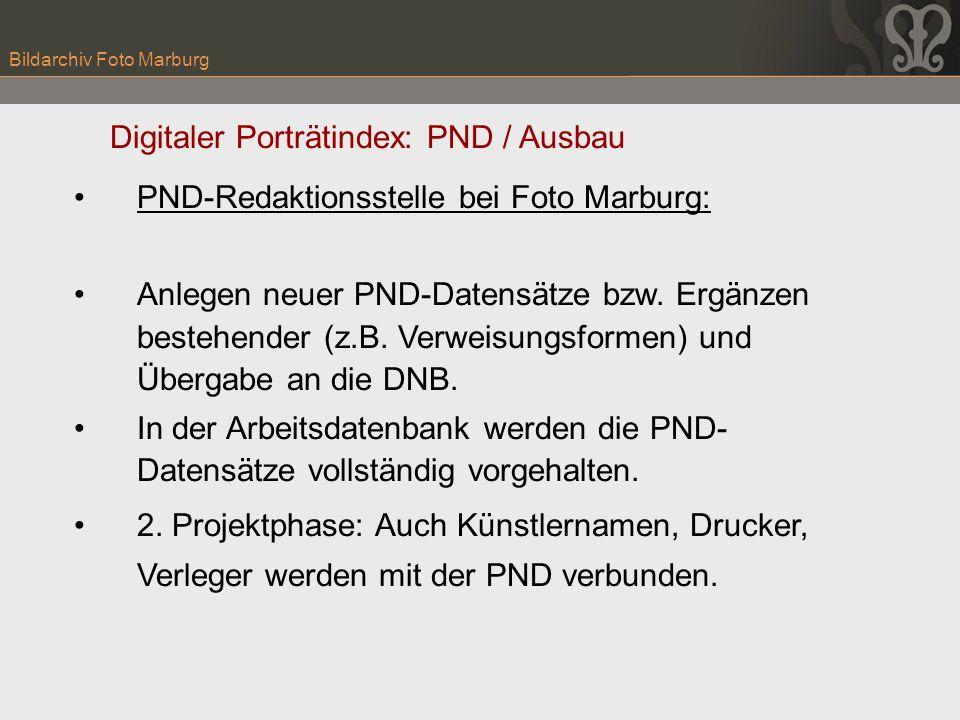 PND-Redaktionsstelle bei Foto Marburg: