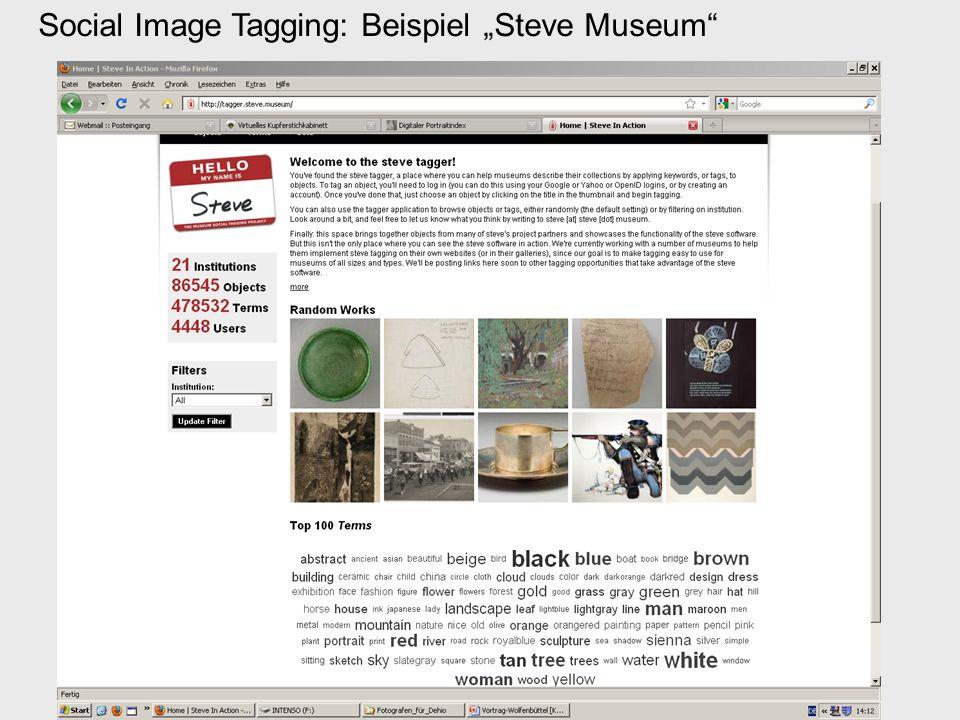 """Social Image Tagging: Beispiel """"Steve Museum"""