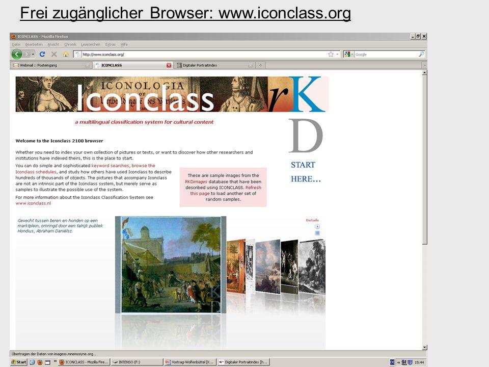 Frei zugänglicher Browser: www.iconclass.org