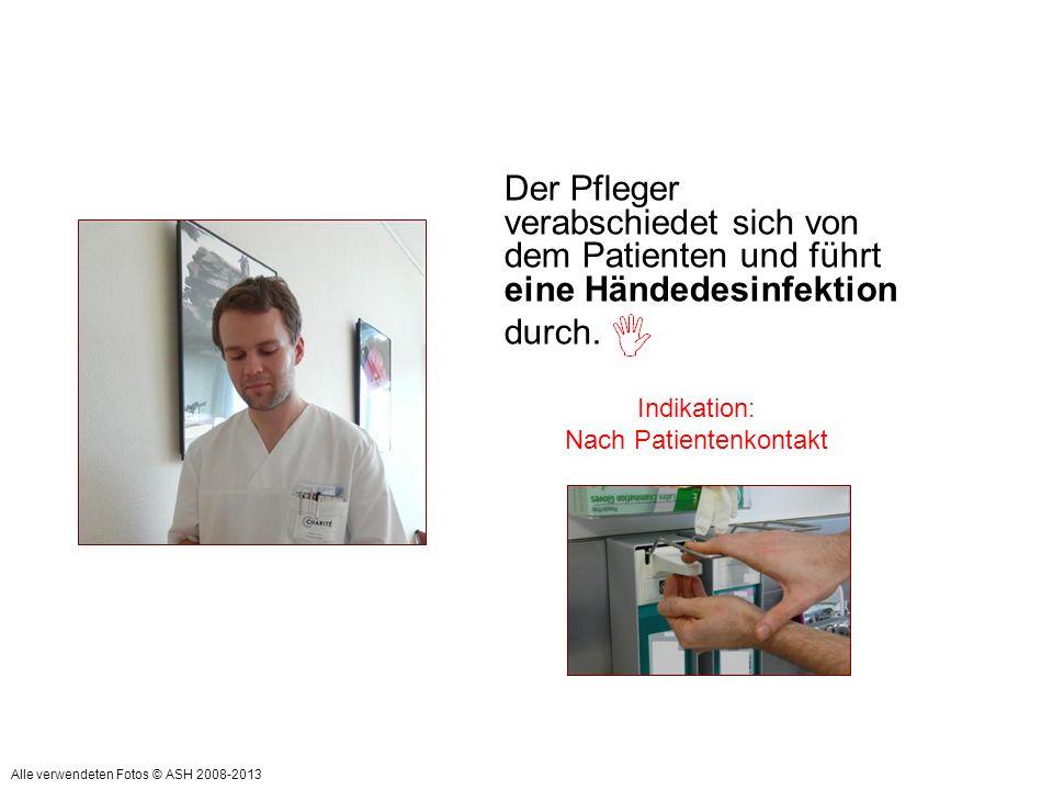 Nach Patientenkontakt