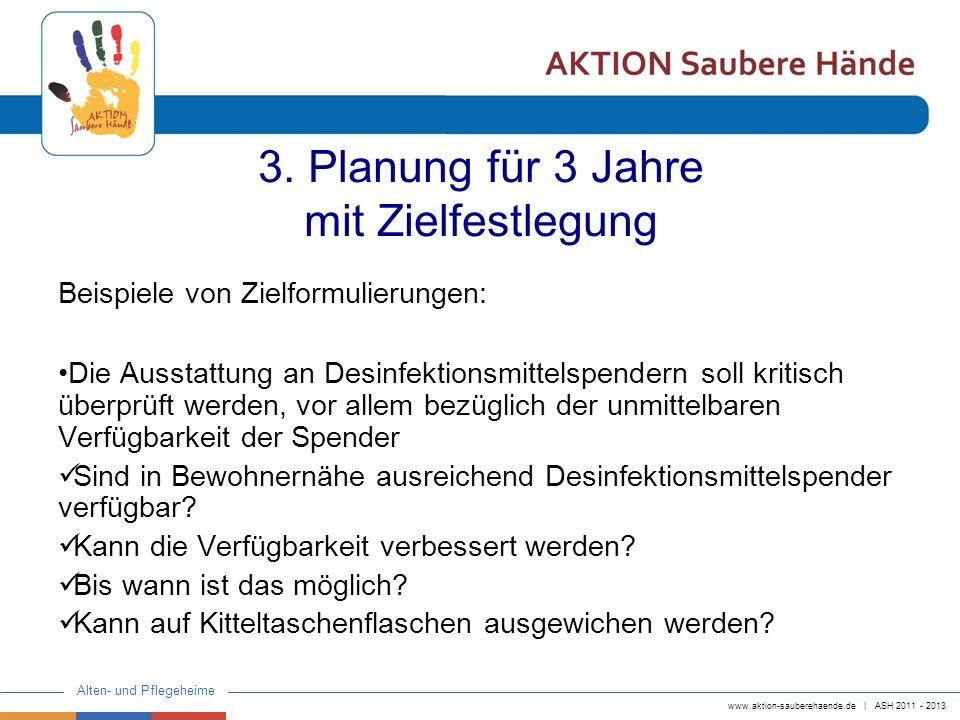 3. Planung für 3 Jahre mit Zielfestlegung