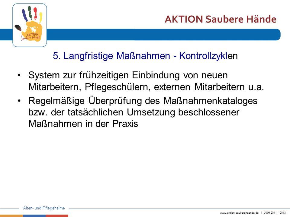 5. Langfristige Maßnahmen - Kontrollzyklen