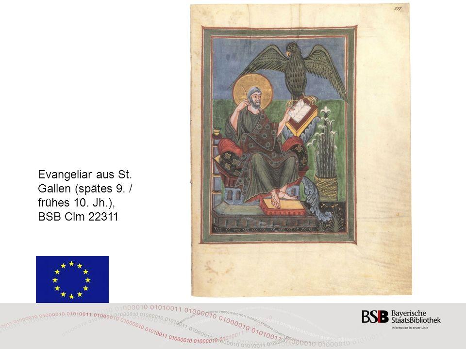 Evangeliar aus St. Gallen (spätes 9. / frühes 10. Jh.),