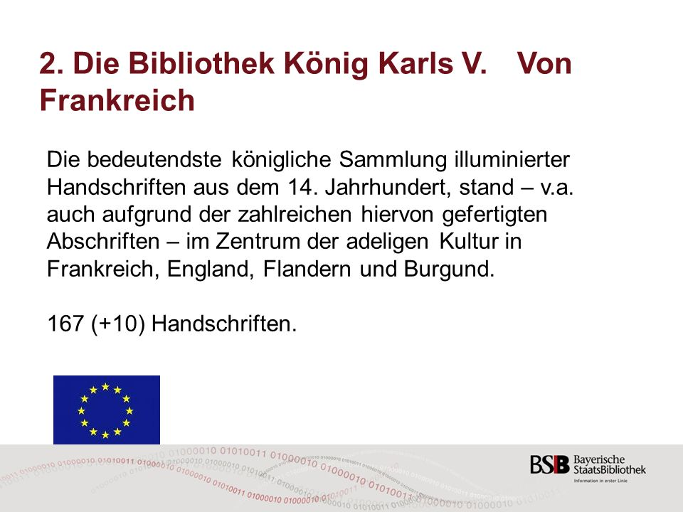2. Die Bibliothek König Karls V. Von Frankreich
