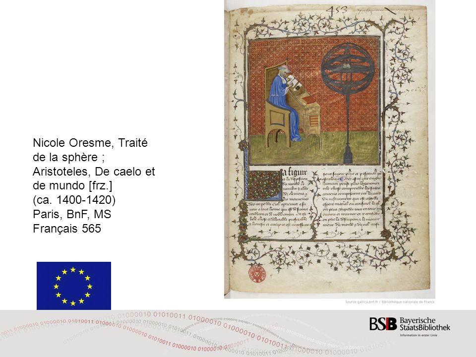 Nicole Oresme, Traité de la sphère ;