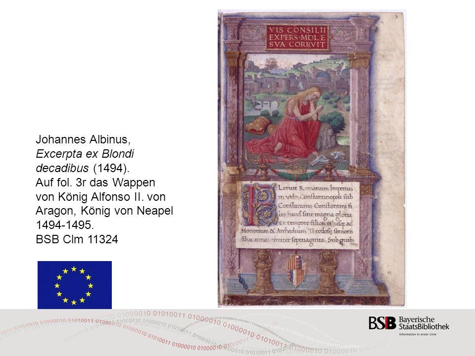 Johannes Albinus, Excerpta ex Blondi decadibus (1494).