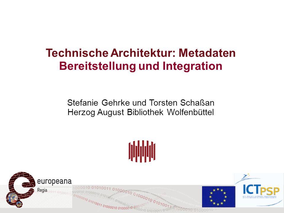 Technische Architektur: Metadaten Bereitstellung und Integration