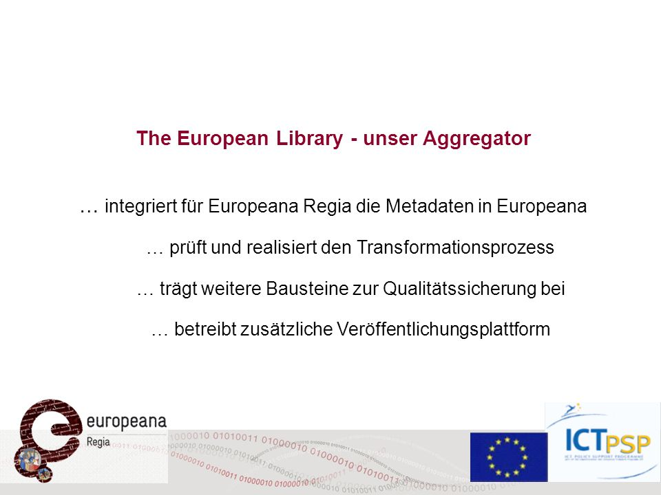 The European Library - unser Aggregator