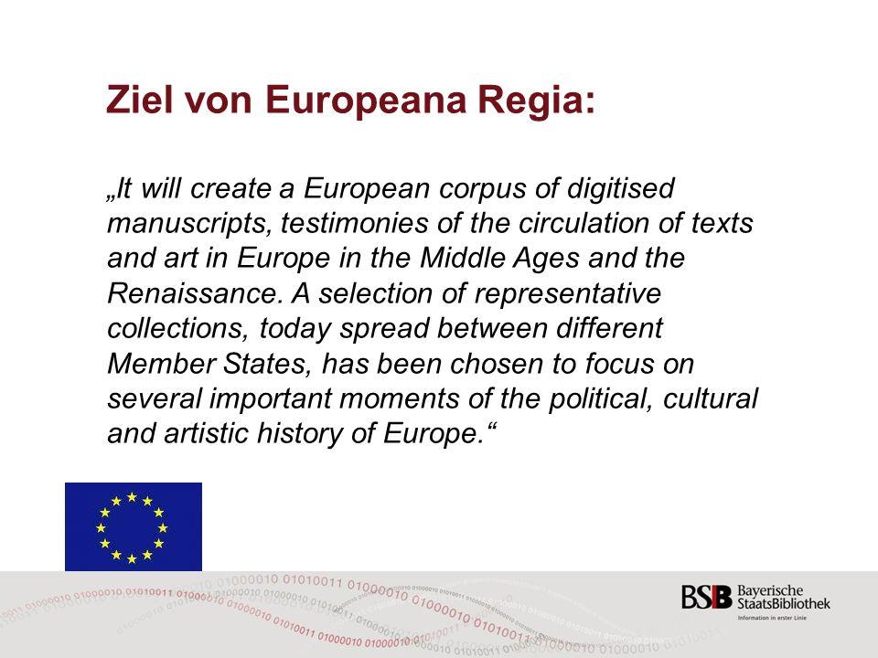 Ziel von Europeana Regia: