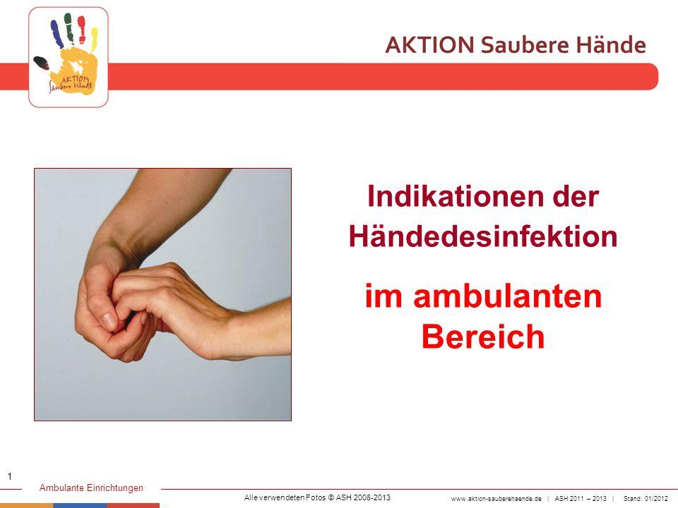 Indikationen der Händedesinfektion