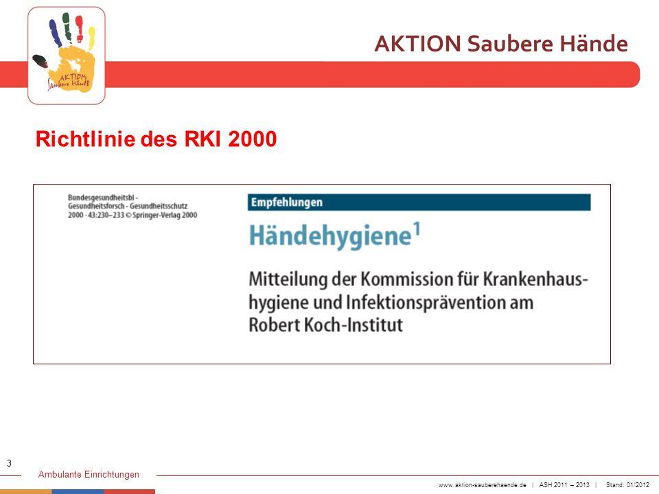 Richtlinie des RKI 2000 3