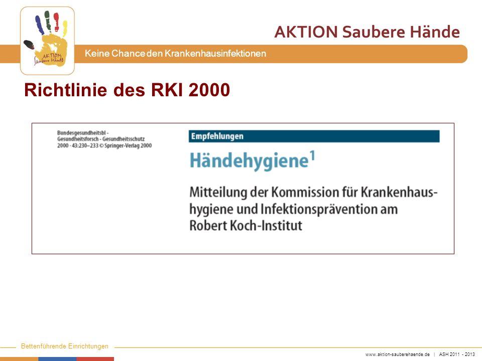 Richtlinie des RKI 2000