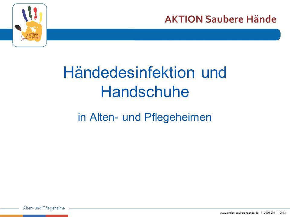 Händedesinfektion und Handschuhe