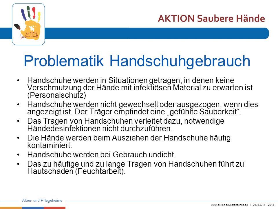 Problematik Handschuhgebrauch