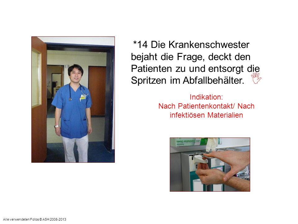 Nach Patientenkontakt/ Nach infektiösen Materialien