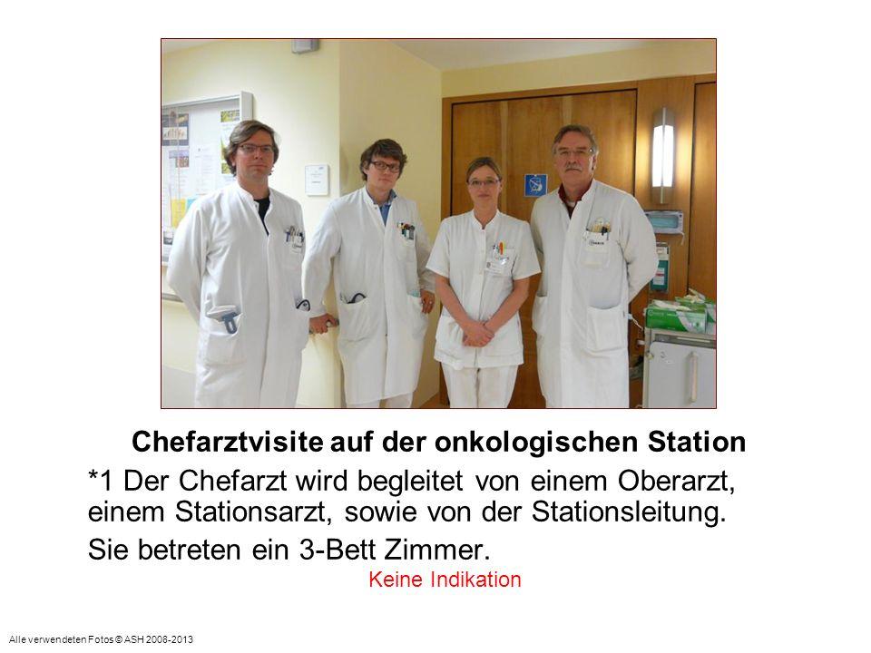 Chefarztvisite auf der onkologischen Station