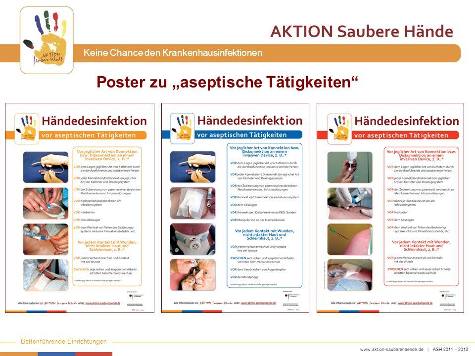 """Poster zu """"aseptische Tätigkeiten"""