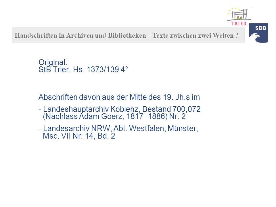 Original: StB Trier, Hs. 1373/139 4°