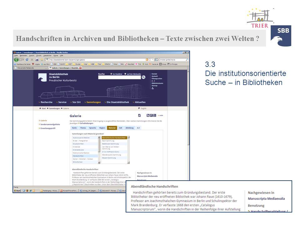 3.1 … und auf den Websites der SBB