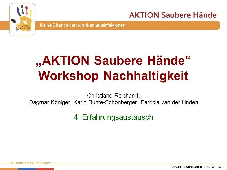 """""""AKTION Saubere Hände Workshop Nachhaltigkeit"""