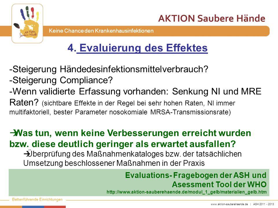 4. Evaluierung des Effektes