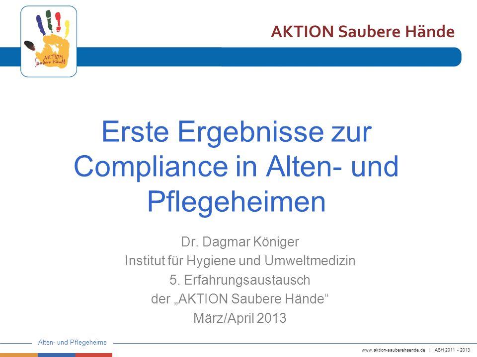 Erste Ergebnisse zur Compliance in Alten- und Pflegeheimen