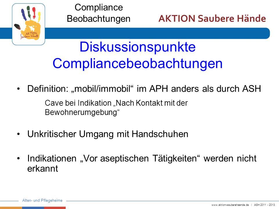 Diskussionspunkte Compliancebeobachtungen