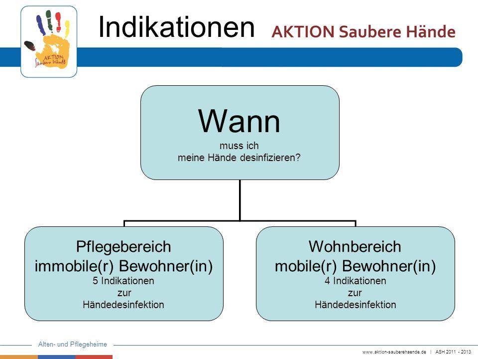 Wann Indikationen Pflegebereich immobile(r) Bewohner(in) Wohnbereich