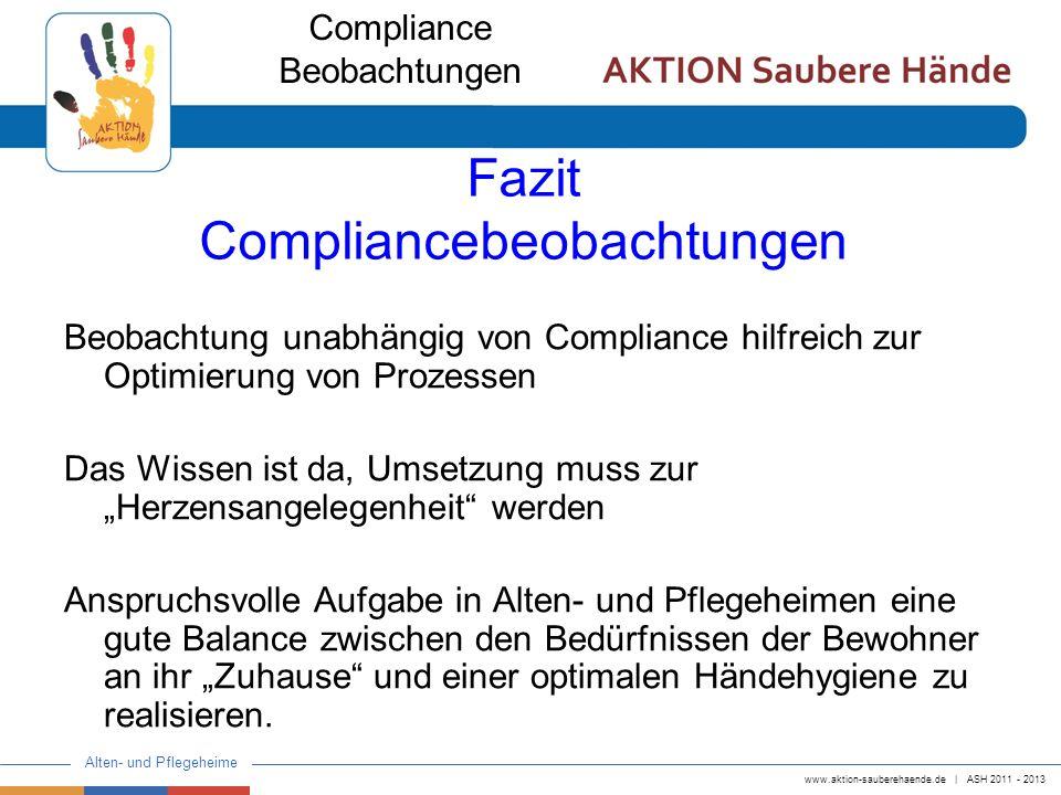 Fazit Compliancebeobachtungen