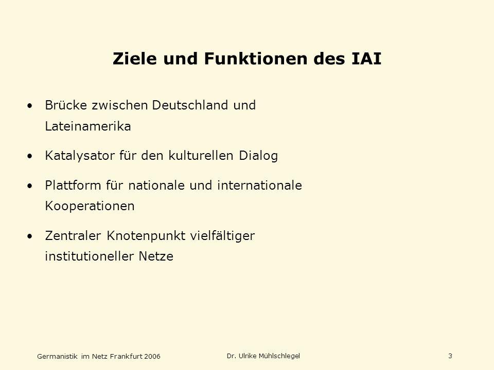 Ziele und Funktionen des IAI