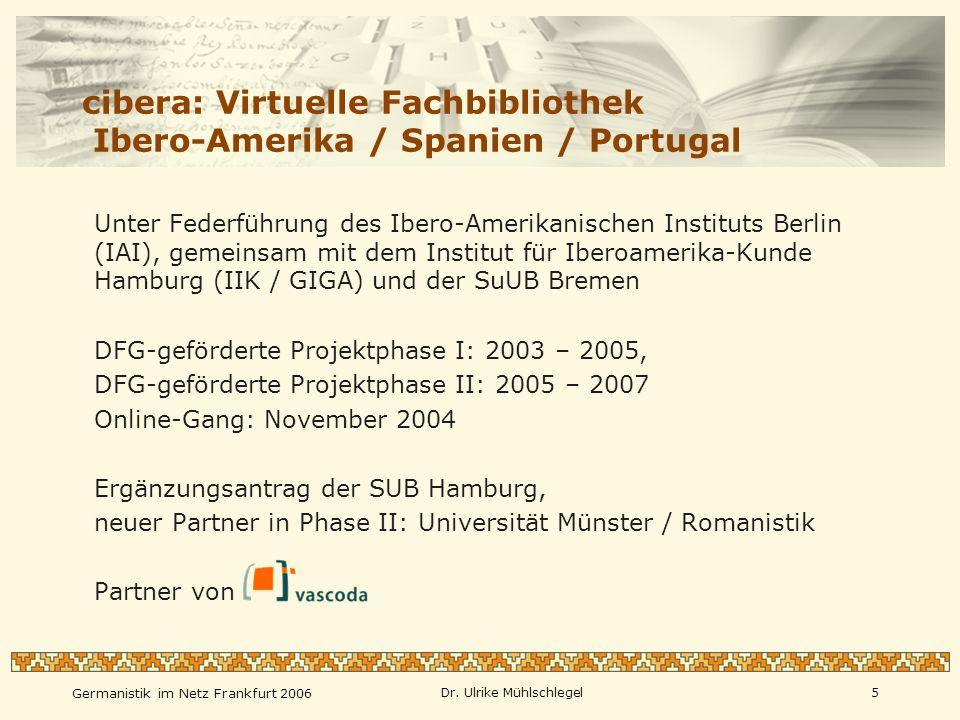 cibera: Virtuelle Fachbibliothek Ibero-Amerika / Spanien / Portugal