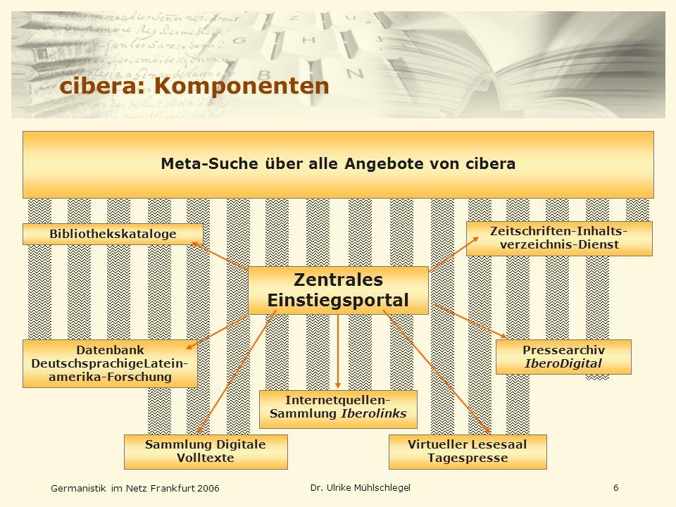 cibera: Komponenten Zentrales Einstiegsportal