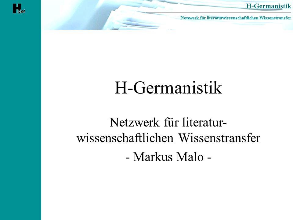 Netzwerk für literatur-wissenschaftlichen Wissenstransfer