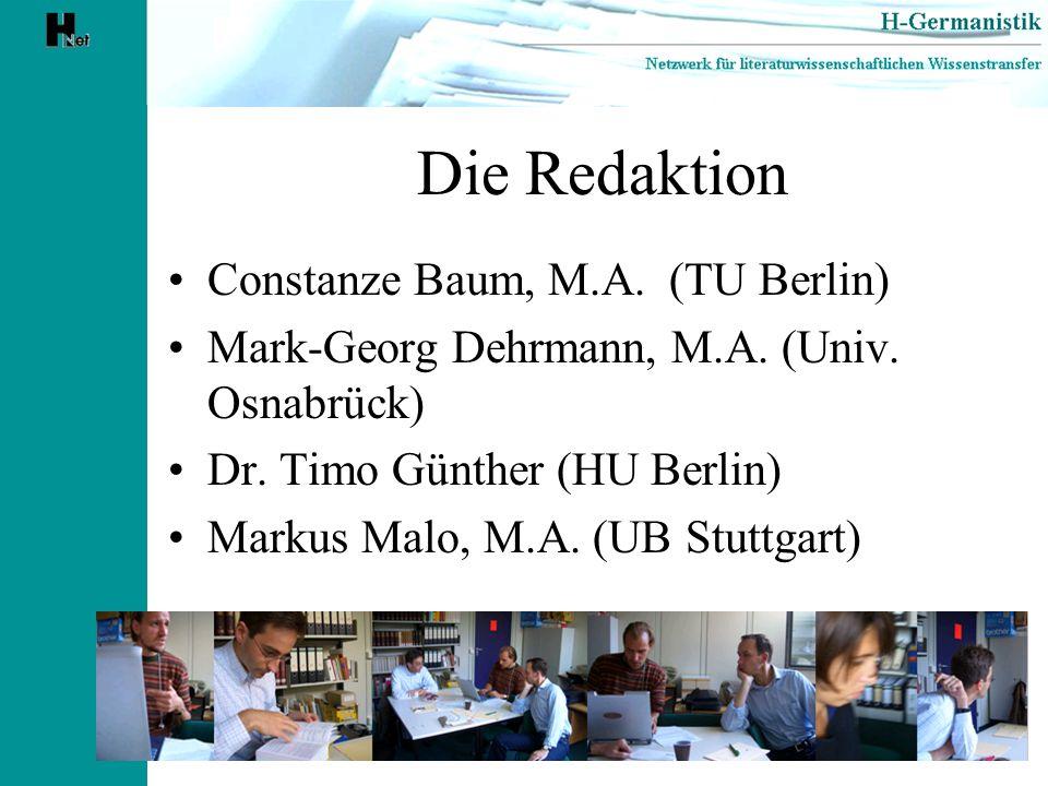 Die Redaktion Constanze Baum, M.A. (TU Berlin)
